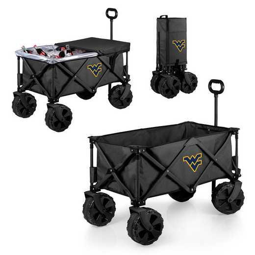741-85-679-834-0: West Virginia Mountaineers Adventure Wagon Elite (Dark Grey)