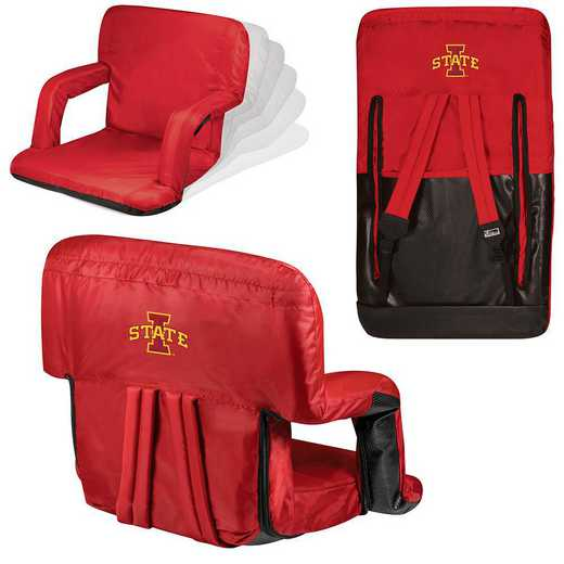 618-00-100-234-0: Iowa State Cyclones - Ventura  Stadium Seat (Red)