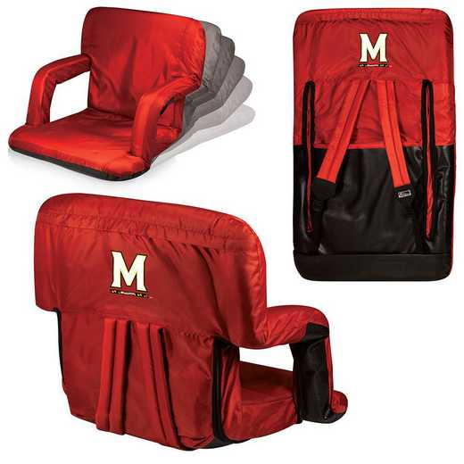 618-00-100-314-0: Maryland Terrapins - Ventura  Stadium Seat (Red)