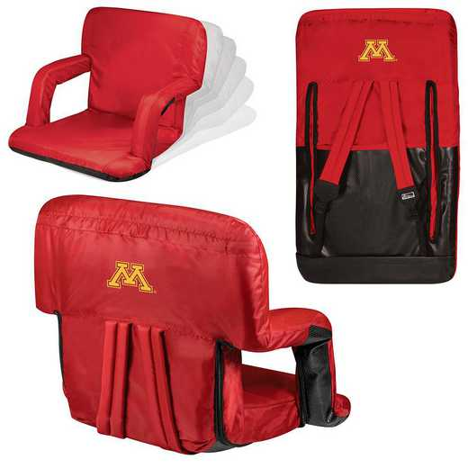 618-00-100-364-0: Minnesota Golden Gophers - Ventura  Stadium Seat (Red)