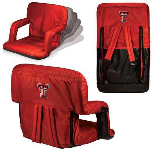 618-00-100-574-0: Texas Tech Red Raiders - Ventura  Stadium Seat (Red)