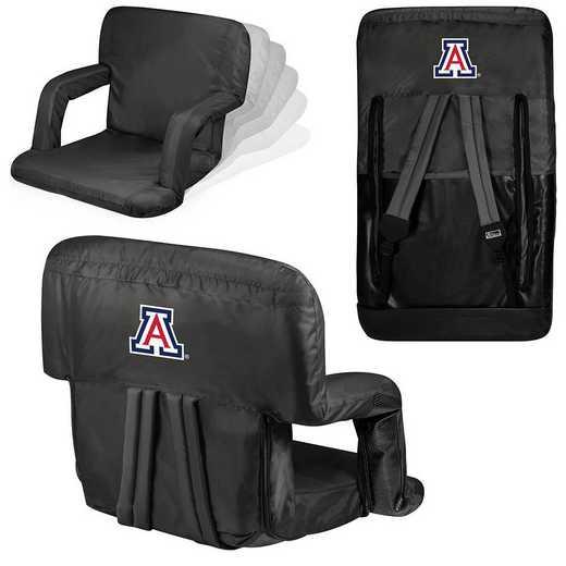 618-00-179-014-0: Arizona Wildcats - Ventura  Stadium Seat (Black)