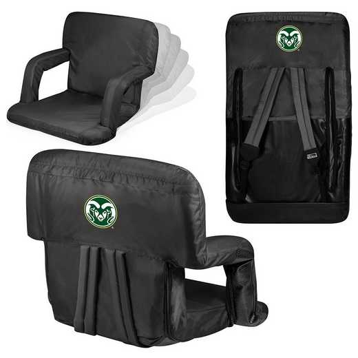 618-00-179-134-0: Colorado State Rams - Ventura  Stadium Seat (Black)