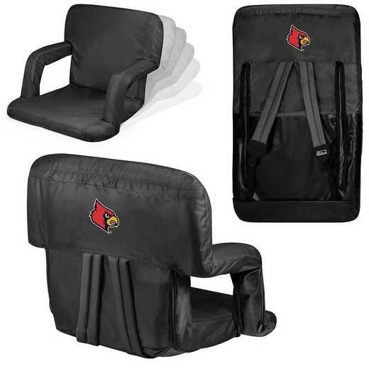 618-00-179-304-0: Louisville Cardinals - Ventura  Stadium Seat (Black)