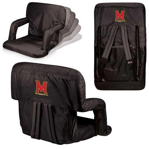 618-00-179-314-0: Maryland Terrapins - Ventura  Stadium Seat (Black)