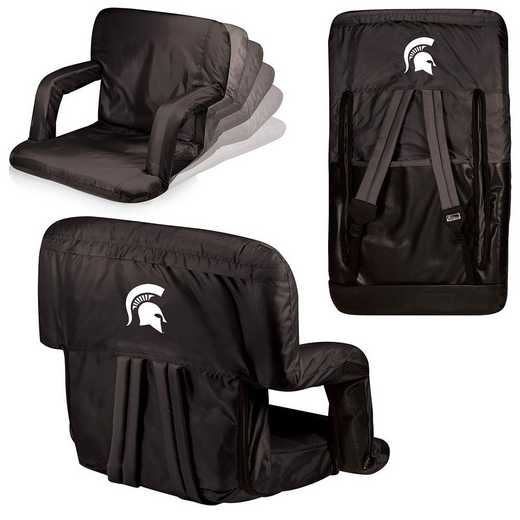 618-00-179-354-0: Michigan State Spartans - Ventura  Stadium Seat (Black)