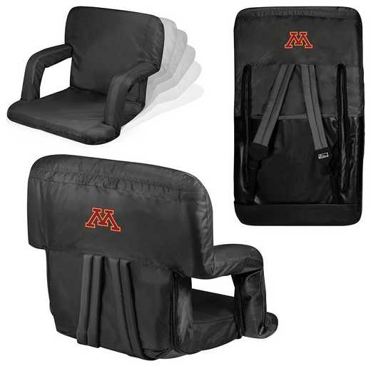 618-00-179-364-0: Minnesota Golden Gophers - Ventura  Stadium Seat (Black)