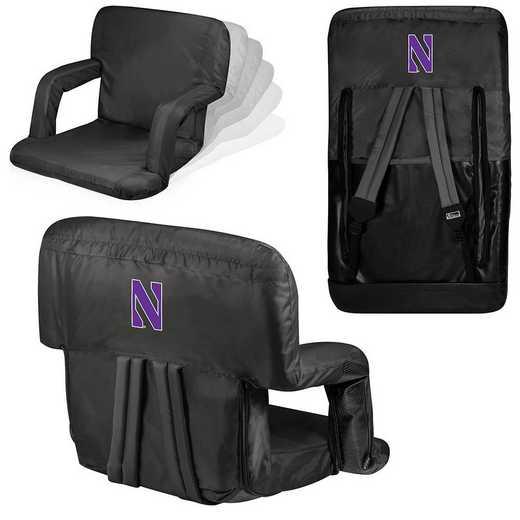 618-00-179-434-0: Northwestern Wildcats - Ventura  Stadium Seat (Black)