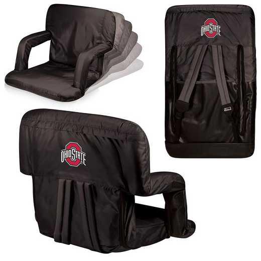 618-00-179-444-0: Ohio State Buckeyes - Ventura  Stadium Seat (Black)