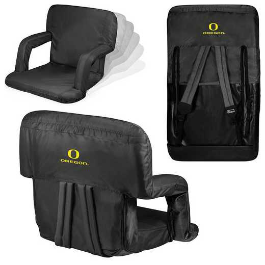 618-00-179-474-0: Oregon Ducks - Ventura  Stadium Seat (Black)