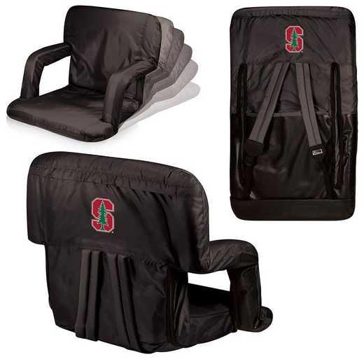 618-00-179-534-0: Stanford Cardinal - Ventura  Stadium Seat (Black)