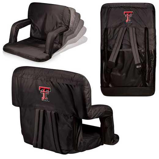 618-00-179-574-0: Texas Tech Red Raiders - Ventura  Stadium Seat (Black)