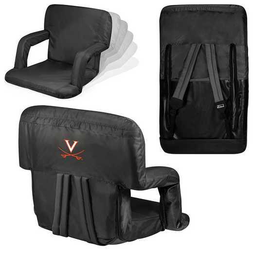 618-00-179-594-0: Virginia Cavaliers - Ventura  Stadium Seat (Black)