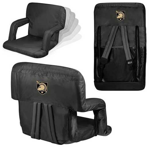 618-00-179-764-0: West Point Black Knights - Ventura  Stadium Seat (Black)