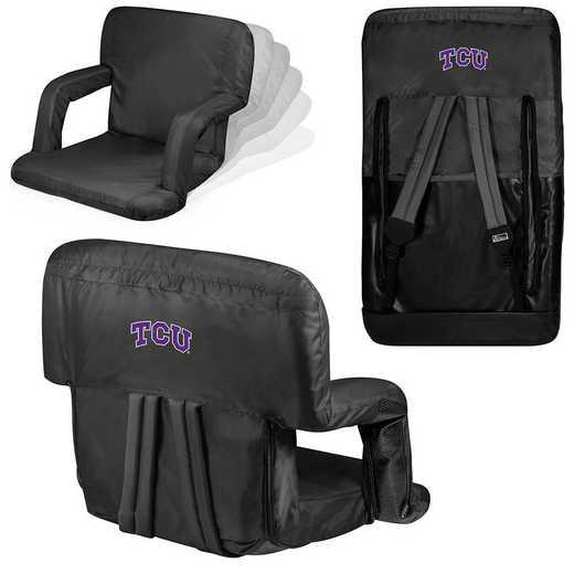 618-00-179-844-0: TCU Horned Frogs - Ventura  Stadium Seat (Black)