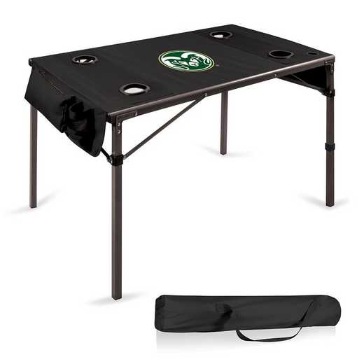 799-00-179-134-0: Colorado State Rams - Travel Table (Black)
