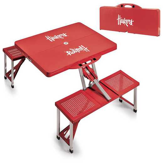 811-00-100-404-0: Nebraska Cornhuskers - Portable Picnic Table (Red)