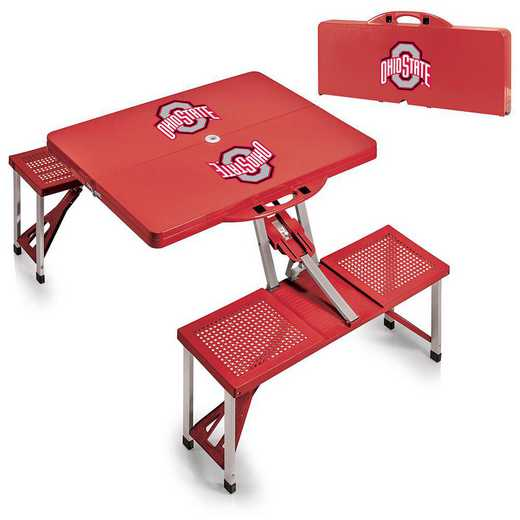 811-00-100-444-0: Ohio State Buckeyes - Portable Picnic Table (Red)