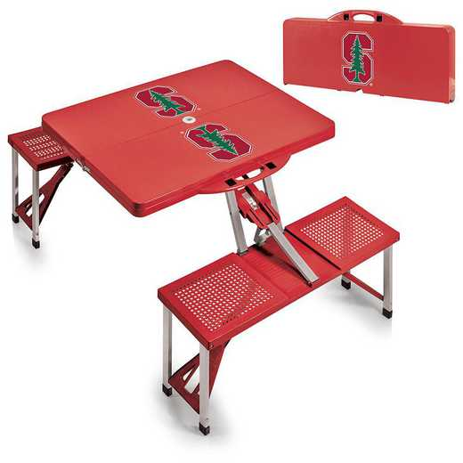 811-00-100-534-0: Stanford Cardinal - Portable Picnic Table (Red)