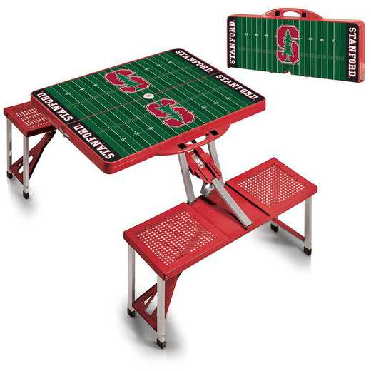 811-00-100-535-0: Stanford Cardinal - Portable Picnic Table w/SFD (Red)