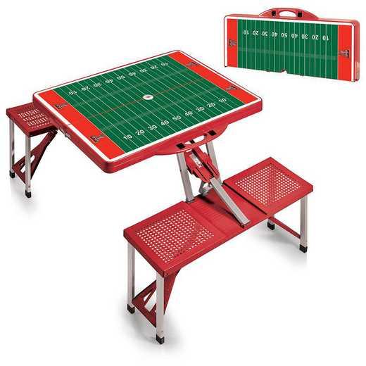 811-00-100-575-0: Texas Tech Red Raiders - Portable Picnic Table w/SFD (Red)