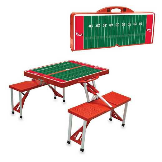 811-00-100-665-0: Cincinnati Bearcats - Portable Picnic Table w/SFD (Red)