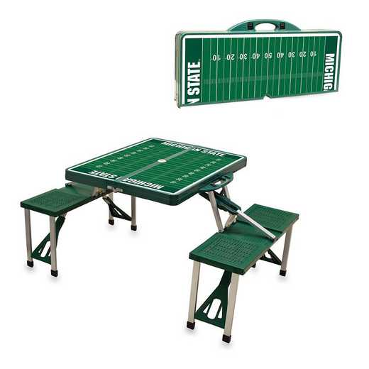 811-00-121-355-0: Michigan State SpartansPortable Picnic Table w/SFD HNTR GRN