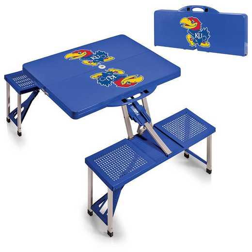 811-00-139-244-0: Kansas Jayhawks - Portable Picnic Table (Blue)