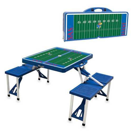 811-00-139-245-0: Kansas Jayhawks - Portable Picnic Table w/SFD (Blue)