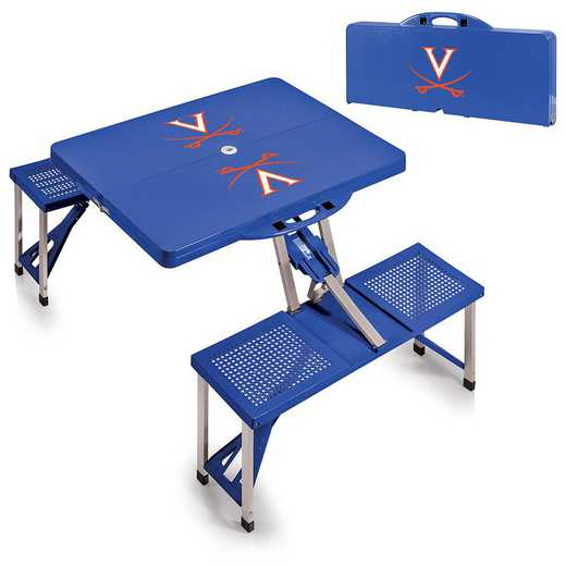 811-00-139-594-0: Virginia Cavaliers - Portable Picnic Table (Blue)