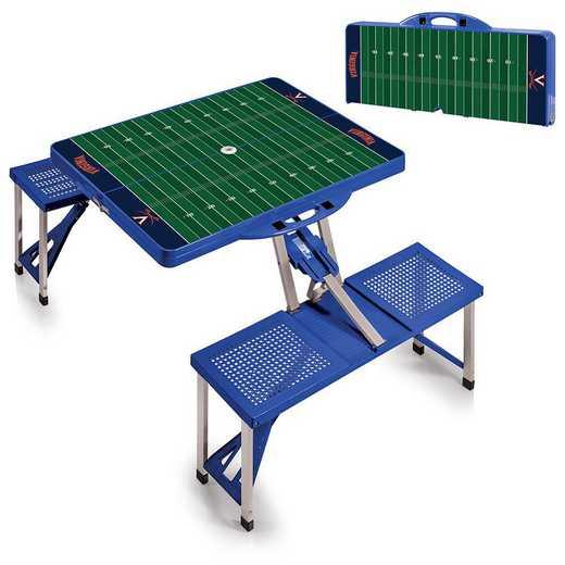 811-00-139-595-0: Virginia Cavaliers - Portable Picnic Table w/SFD (Blue)