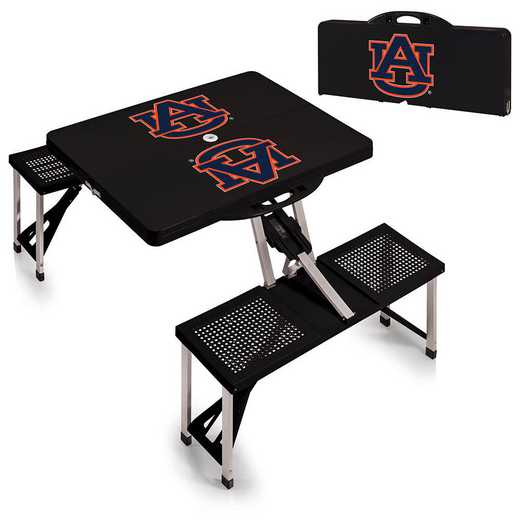 811-00-175-044-0: Auburn Tigers - Portable Picnic Table (Black)