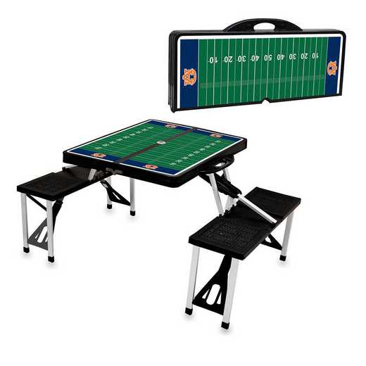 811-00-175-045-0: Auburn Tigers - Portable Picnic Table w/SFD (Black)