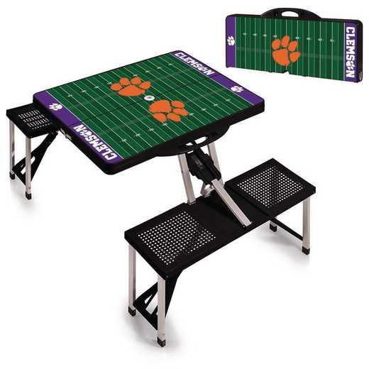 811-00-175-105-0: Clemson Tigers - Portable Picnic Table w/SFD (Black)