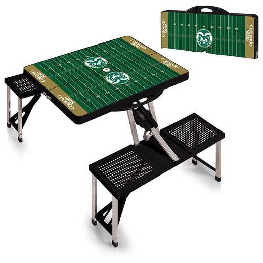 811-00-175-135-0: Colorado State Rams - Portable Picnic Table w/SFD (Black)