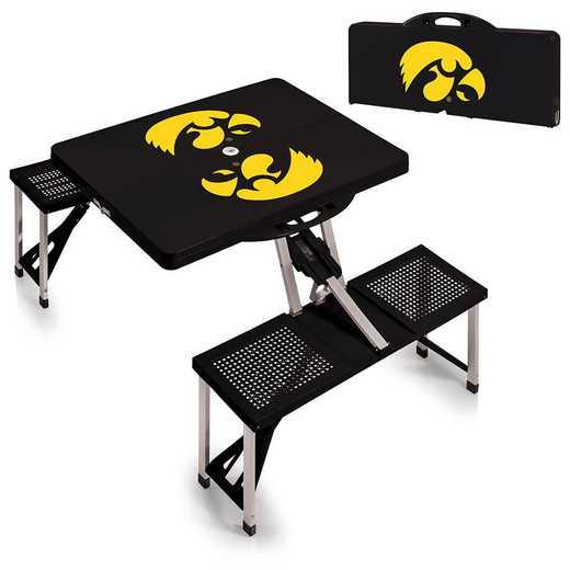 811-00-175-224-0: Iowa Hawkeyes - Portable Picnic Table (Black)
