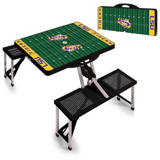 811-00-175-295-0: LSU Tigers - Portable Picnic Table w/SFD (Black)