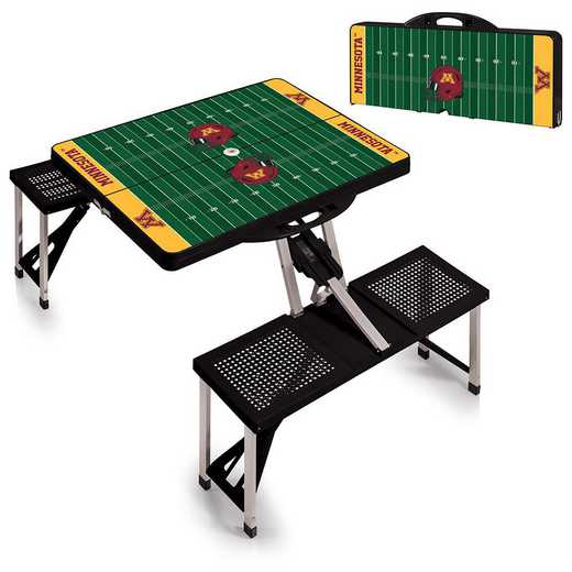 811-00-175-365-0: Minnesota Golden Gophers Portable Picnic Table w/SFD (Black)