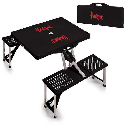 811-00-175-404-0: Nebraska Cornhuskers - Portable Picnic Table (Black)
