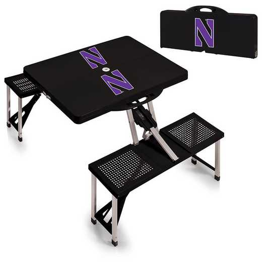 811-00-175-434-0: Northwestern Wildcats - Portable Picnic Table (Black)