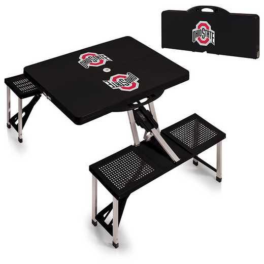 811-00-175-444-0: Ohio State Buckeyes - Portable Picnic Table (Black)