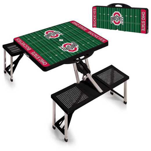 811-00-175-445-0: Ohio State Buckeyes - Portable Picnic Table w/SFD (Black)