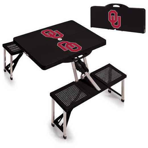 811-00-175-454-0: Oklahoma Sooners - Portable Picnic Table (Black)