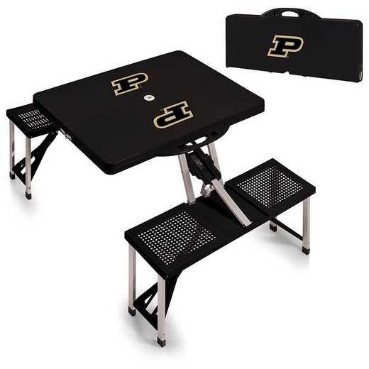 811-00-175-514-0: Purdue Boilermakers - Portable Picnic Table (Black)