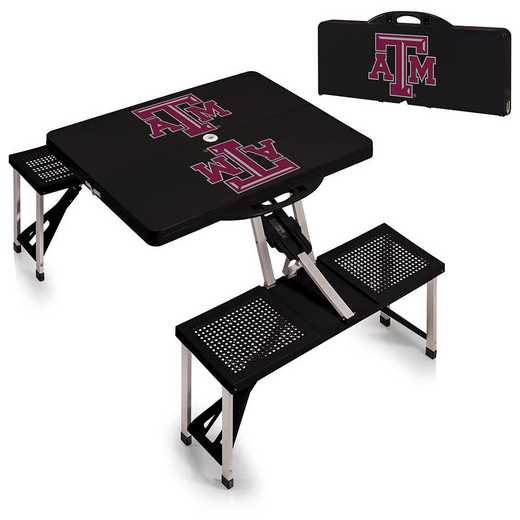 811-00-175-564-0: Texas A&M Aggies - Portable Picnic Table (Black)