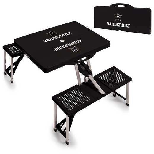 811-00-175-584-0: Vanderbilt Commodores - Portable Picnic Table (Black)