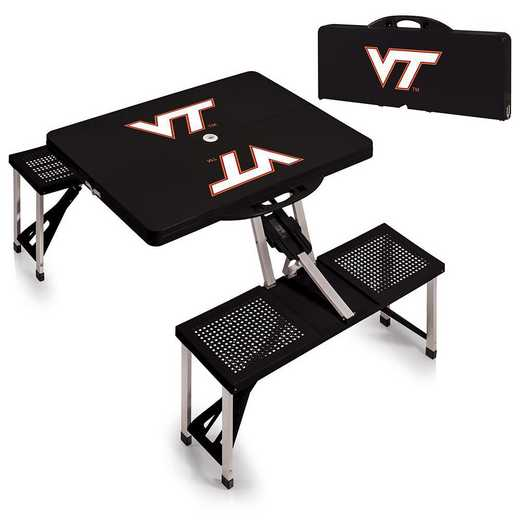 811-00-175-604-0: Virginia Tech Hokies - Portable Picnic Table (Black)