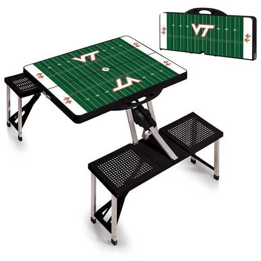 811-00-175-605-0: Virginia Tech Hokies - Portable Picnic Table w/SFD (Black)