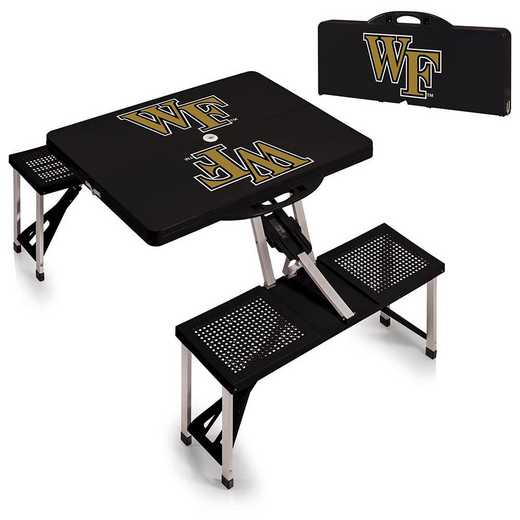 811-00-175-614-0: Wake Forest Demon Deacons - Portable Picnic Table (Black)