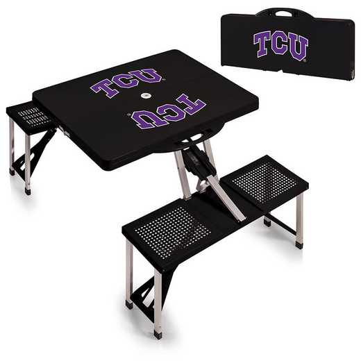 811-00-175-844-0: TCU Horned Frogs - Portable Picnic Table (Black)